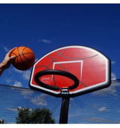 Basketball and hoop for trampoline